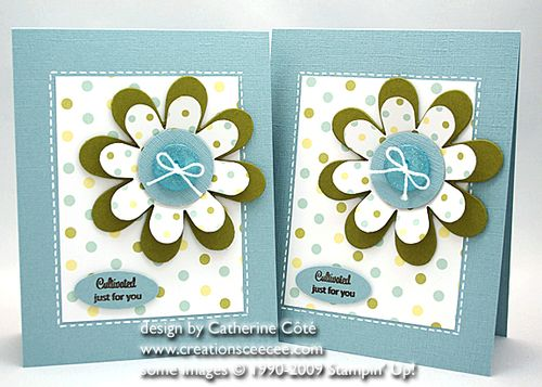 Flower fold card
