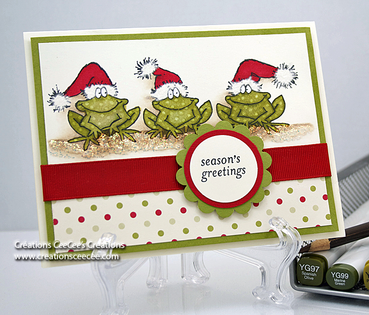 Ceecees creations seasons greetings frogs seasons greetings 2 m4hsunfo