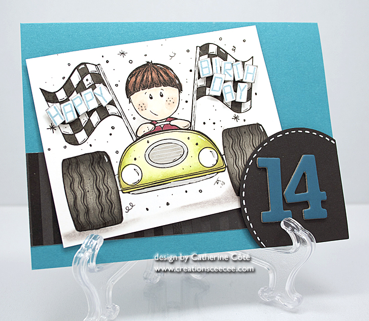 Ceecees Creations Happy 14th Birthday Card