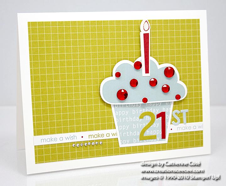ceecee's creations happy st birthday, Birthday card