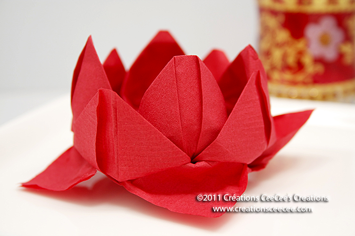 Ceecees creations sunday reflections napkin lotus flower napkins lotus flower 4 mightylinksfo