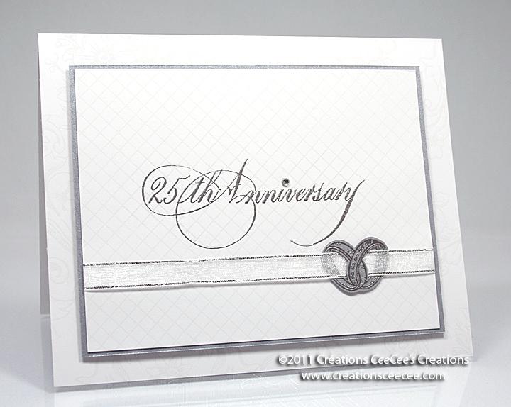 ceecee s creations 25th anniversary card