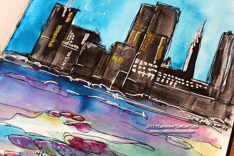 Watercolor cityscape a