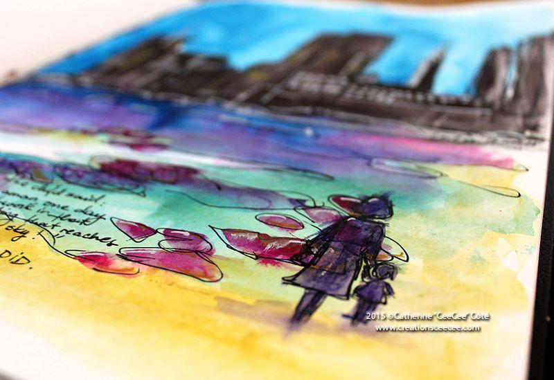Watercolor cityscape b