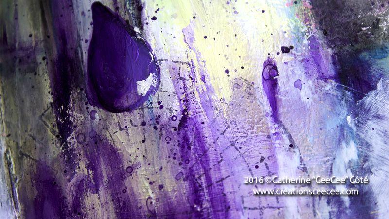 It rains purple f