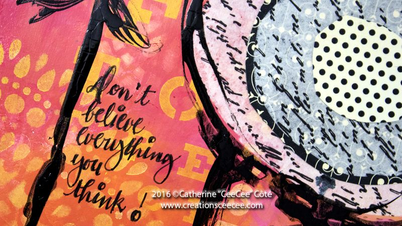 Art journal dont believe every thing you think d