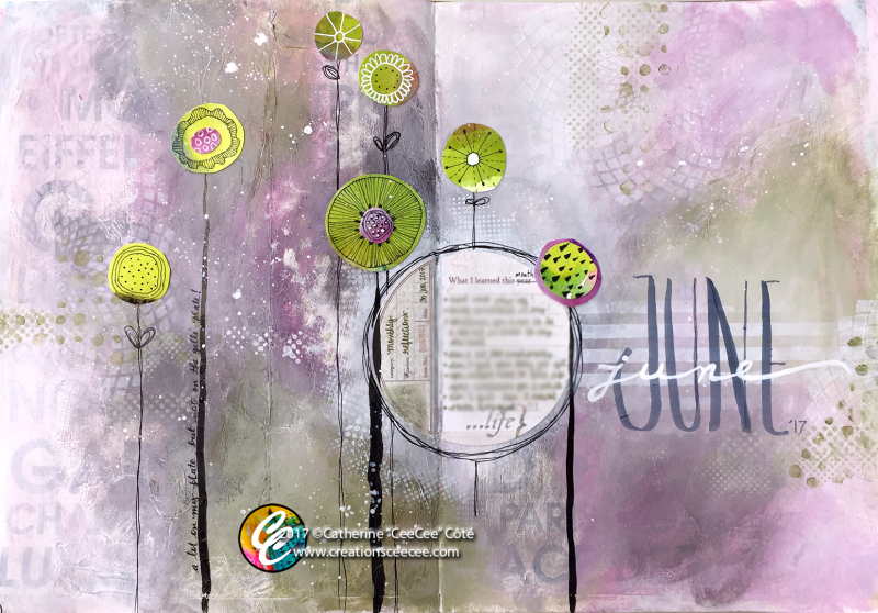 Art journaling june monthly reflections b