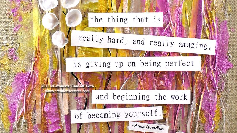 Mixed media becoming yourself d