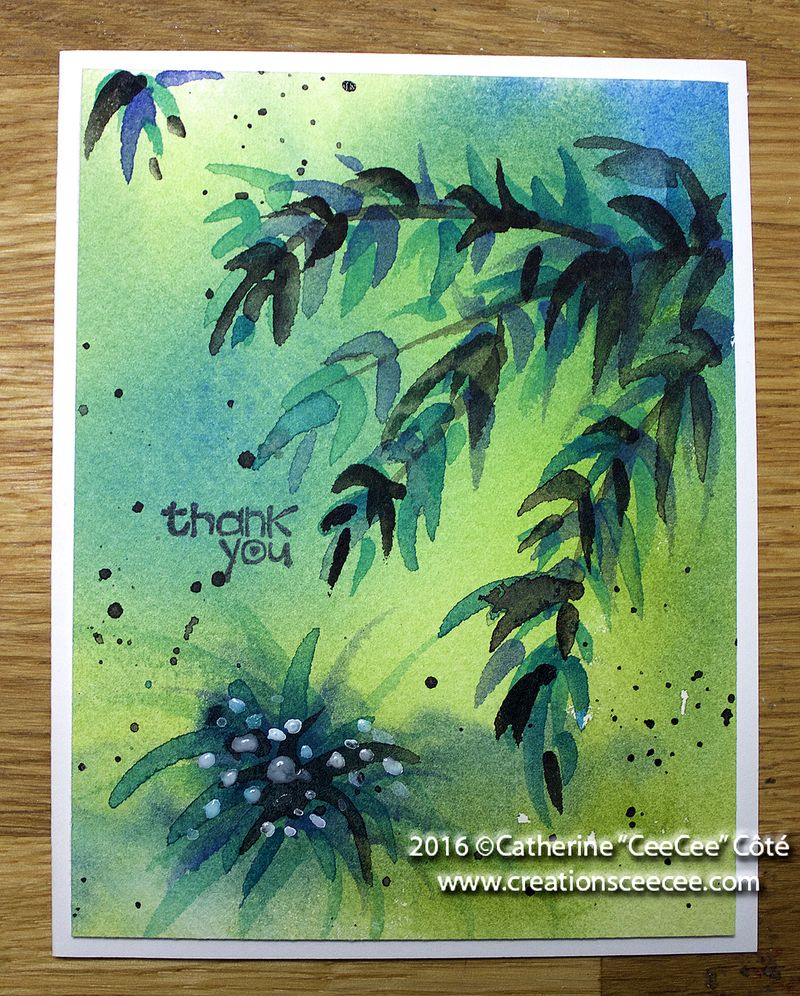 Watercolor card e