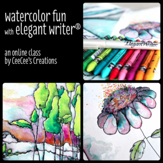 Watercolor fun with elegant writer class photo a
