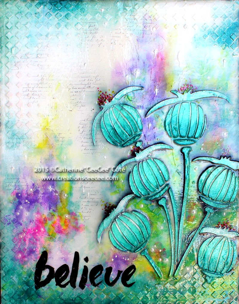 Believe poppies canvas b