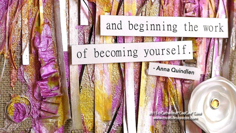 Mixed media becoming yourself e