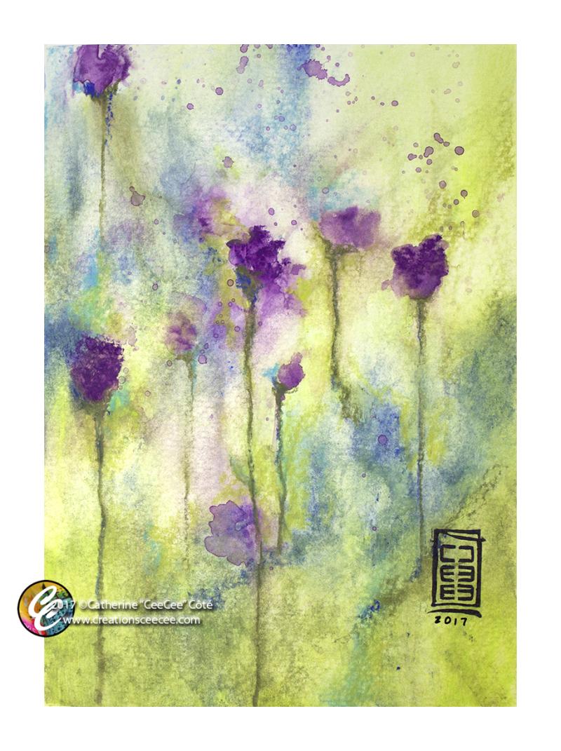 Art process 13jun17 florals with neocolors a